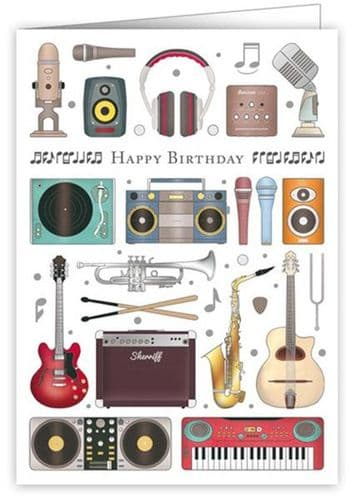 Birthday Card - Musical Instruments by Quire