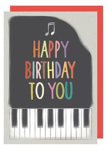 Birthday Card - Piano by Quire