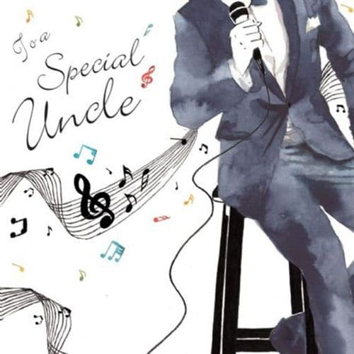 Birthday Card - Special Uncle Card Singer by TwizleR