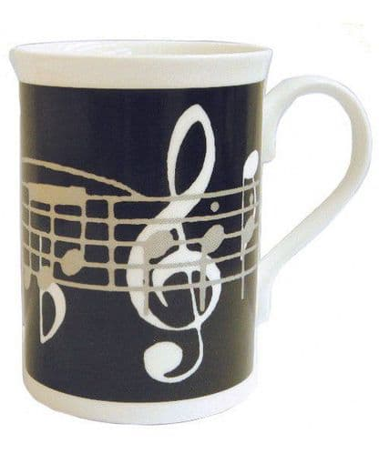 Black Music Notes Mug by MGC