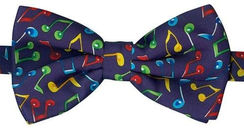 Bow Tie - Multi Coloured Music Notes by Tie Studio