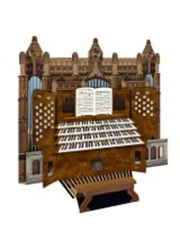 Cathedral Organ 3D Card by MGC