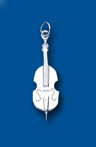 Cello Sterling Silver Charm