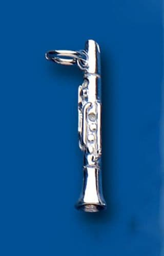 Clarinet Sterling Silver Charm