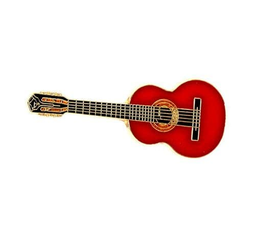 Classical Guitar Lapel Pin in Spruce by AIMG