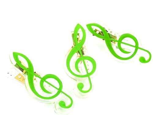 Clip - Treble Clef - Green by AGR