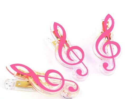 Clip - Treble Clef - Pink by AGR