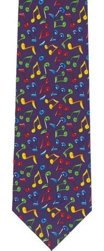 Colourful Notes Tie by Tie Studio