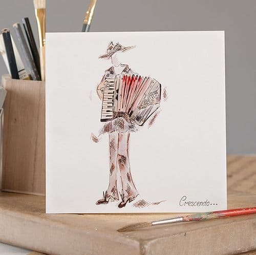 Crescendo Greetings Card by Claire Louise