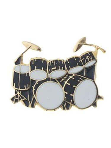 Double Bass Drum Black Kit Lapel Badge by AIMG