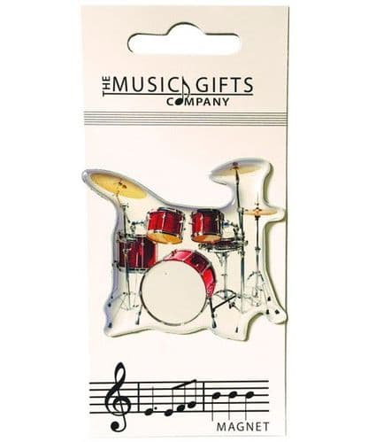 Drum Kit Fridge Magnet by MGC
