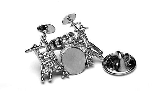 Drum Kit Lapel Badge by Gifticuffs