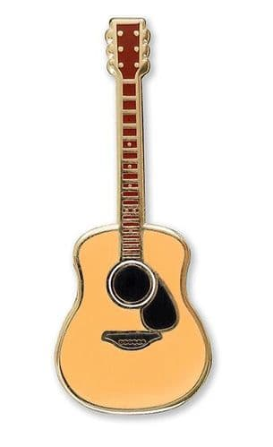 Enamel Acoustic Guitar Lapel Pin by PP