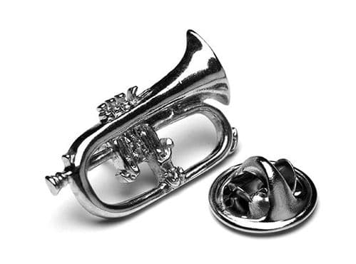 Flugelhorn Lapel Badge by Gifticuffs