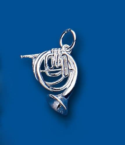 French Horn Sterling Silver Charm