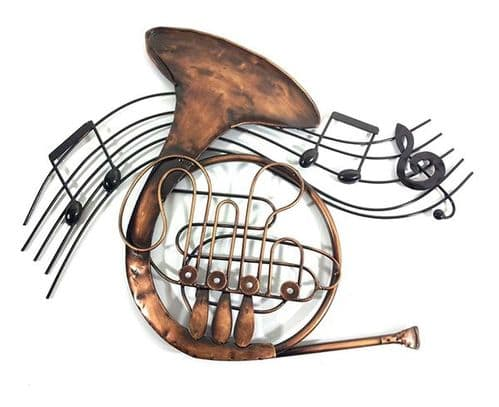 French Horn Swirl Metal Wall Art by SKStyle