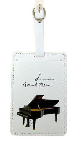 Grand Piano Luggage Label by MD