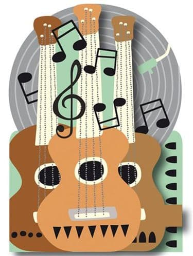 Guitar Greetings Card by Quire