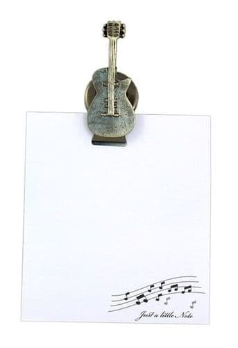 Guitar Magnetic Notelet Clip by Clere Concepts