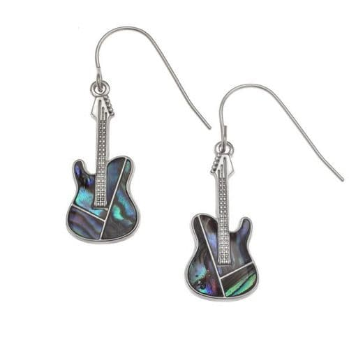 Guitar Paua Earrings by Tide Jewellery