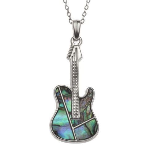 Guitar Paua Necklace by Tide Jewellery