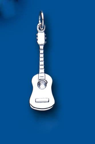 Guitar Sterling Silver Charm
