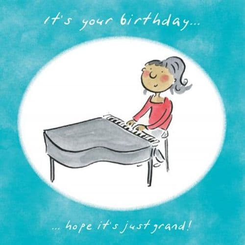 It's Your Birthday Hope It's Just Grand Card by HM