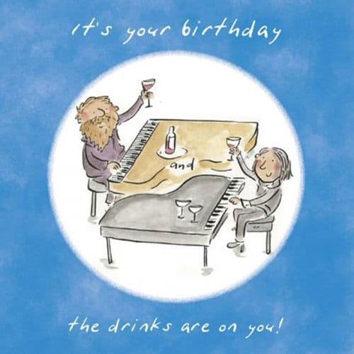 It's Your Birthday the Drinks Are on You Card by HM
