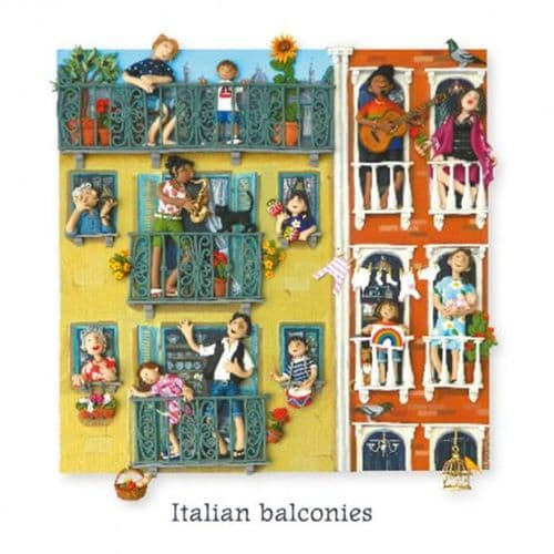 Italian Balconies Greetings Card by HM