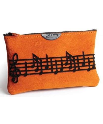 Italian Suede Leather Music Score Cosmetic Case