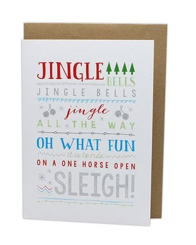 Jingle Bells Christmas Card by MS