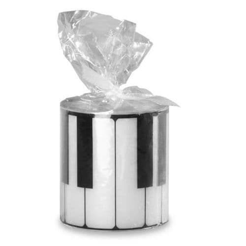Keyboard Round Candle - Music Themed Candles | musical gifts online