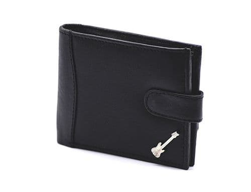 Leather Wallet with Bass Guitar Motif by GC
