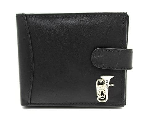Leather Wallet with Euphonium Motif - Music Wallet | musical gifts online