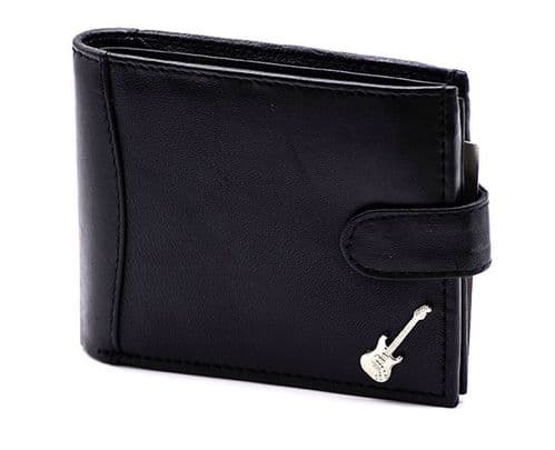 Leather Wallet with Stratocaster  Guitar Motif by GC