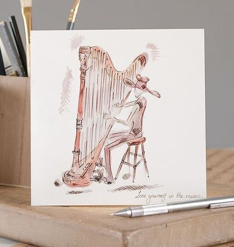 Lose Yourself In The Music Greetings Card by Claire Louise