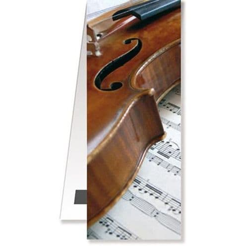 Magnetic Bookmark - Violin on Music by VW