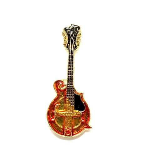 Mandolin Lapel Badge by AIMG