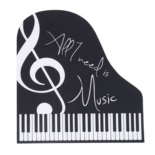 Mouse Mat -Piano - All I Need Is Music by AGR