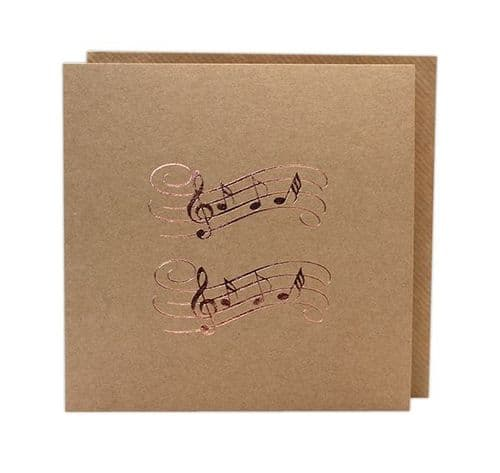 Music Greetings Card by Col Cards