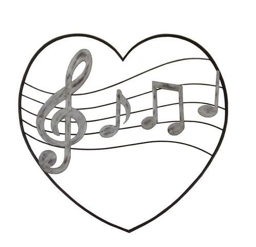 Music Heart Metal Wall Art by SKStyle