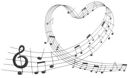 Music Heart Sweep Wall Art by SKStyle