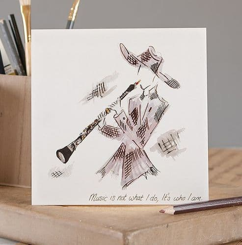 Music Is Not What I Do Greetings Card by Claire Louise