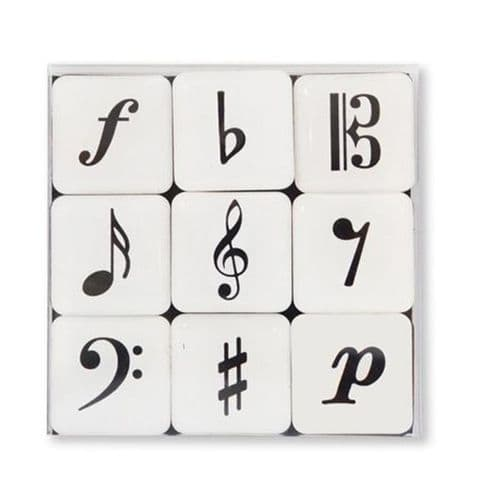 Music Symbols Mini Magnets by VW