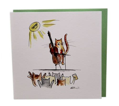 Musical Cats Cello Concert by Col Cards
