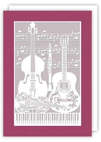 Musical Instrument Greetings Card by Quire