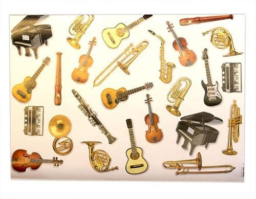 Musical Instrument Wrapping Paper by Vienna World