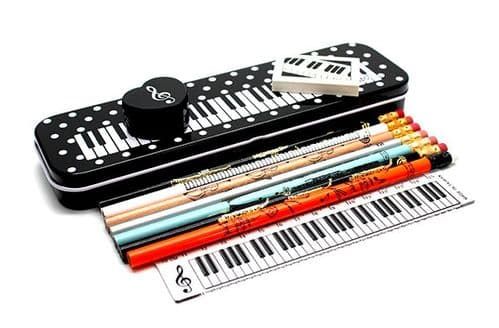 Musical Keyboard & Dots Instrument Stationery Set