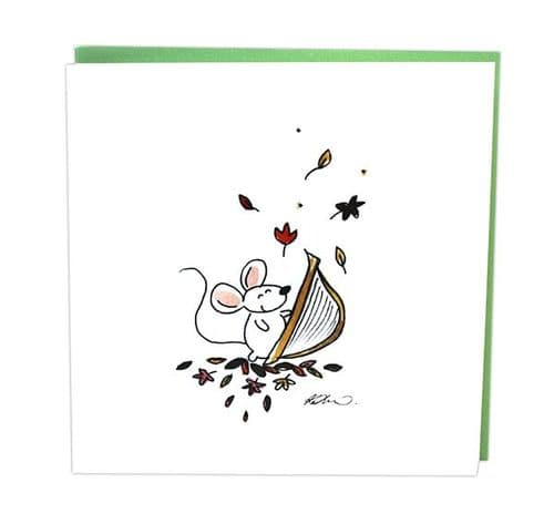 Musical Mice Harp Card by Col Cards
