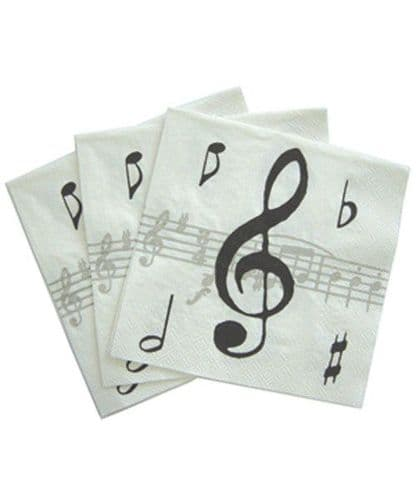 Napkins - Music Notes by MGC - 33 x 33cm